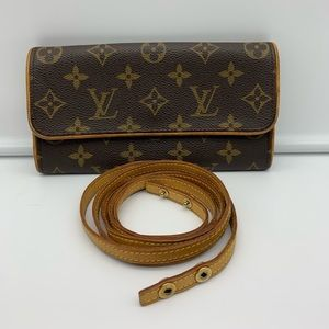 💯Auth Louis Vuitton Twin Pochette Sz PM